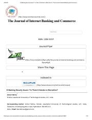 3 E-Banking Security Issues _ Is There A Solution in Biometrics_ _ The Journal of Internet Banking a