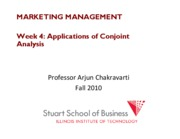 Marketing Management Lecture Week 4 CONJOINT APP