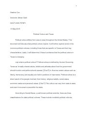 Political Culture Short Essay 1.docx