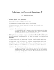 Solutions to Concept Questions 7