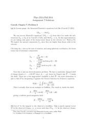 PHYS 231 Fall 2014 Assignment 7 Solutions