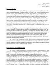 MBA 610 Final Project 1 Week 8.docx