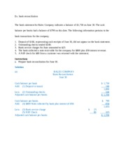 Ex. bank reconciliation (2)