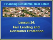 Chapter 14 Fair Lending and Consumer Protection