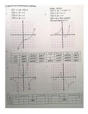 05 Curve Sketching Worksheet key