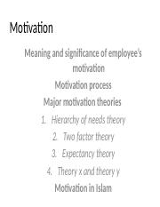 7 Motivation ppt - Motivation Meaning and significance of