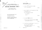 Add Maths 1990 Paper 1 and 2