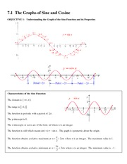 7.1 The Graphs of Sine and Cosine
