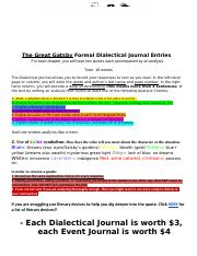 The Great Gatsby Dialectical & Event Journals.docx