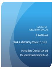 PIL Week 9 - International Criminal Law - Slides - Wed Oct 31, 2018.pptx