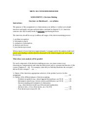 mkt 301 Assignment 2 - decision making 20160929.docx