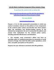 CJA 464 Week 2 Individual Assignment Policy Analysis II Paper.doc