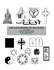 Geography of Religions Reader update