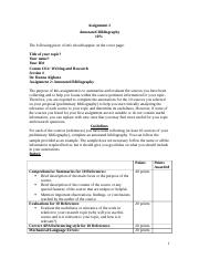 Assignment 2-Annotated Bibliography 10%_Rubric.doc