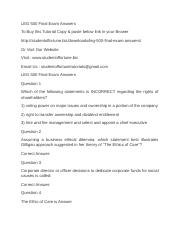 LEG 500 Final Exam Answers