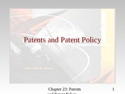 patents and patent policy