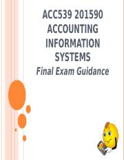 ACC539 201590 Final Exam Guidance.ppt
