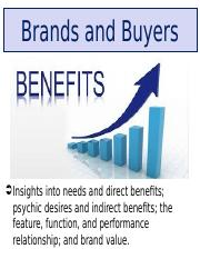 Class Notes B Brands and Buyers.ppt
