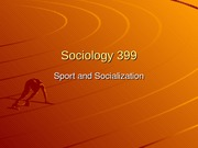 Sports and socialization