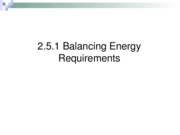 20.5.1 Balancing Energy Requirements-R