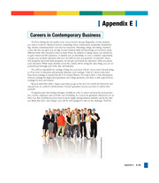 Appendix E Careers in Contemporary Business - Contemporary Business (14th Edition)