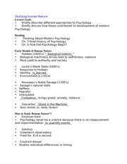 PSYCH 105 - Notes - Section 3 - Studying Human Nature
