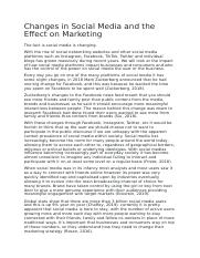 Changes in Social Media and the Effect on Marketing.docx