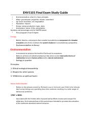 ENV1101 Final Exam Study Guide.docx
