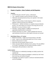 BMGT470 Chapter 9 Review Sheet