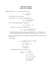 HW 4, Solutions