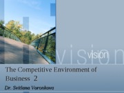 Lecture 10 Competitive environment of Business 2