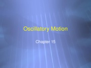 Lect 30 - Oscillations