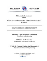 PMC0045, PMT0045, PFM0015 - Course Outline _ Lectureplan Trim 3 0910