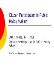 Citizen+Participation+in+Public+Policymaking.ppt