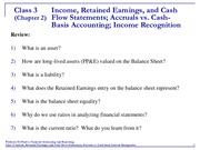 Accounting 3 Income Statement