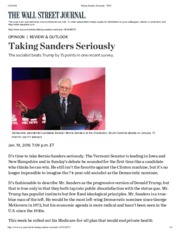 Taking Sanders Seriously - WSJ.pdf