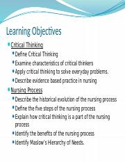 NUR 100 Critical Thinking and Nursing Process.pptx