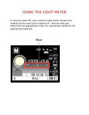 Lesson 6- Using the light Meter.docx