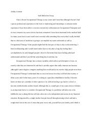 Self Reflection Essay.docx