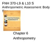 FNH 370-L9  & L10 S Anthro Assess Body Size