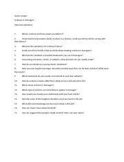 Senior project interview questions
