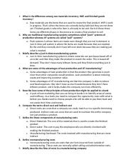 Chap 2 Concept Questions Managerial Accounting