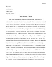 The Kite Runner Theme Paragraph.docx