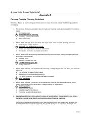 FP.101. WEEK 1 Appendix B Q and A Worksheet.docx