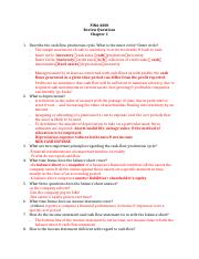 FINA 4300 Review Questions Higgins CH1 -answers