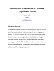 Feasibility Study on the Use of the UP3 Board as a Digital Pattern Generator
