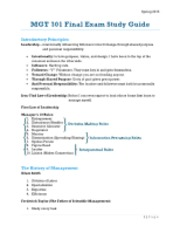 MGT 301 Final Exam Study Guide