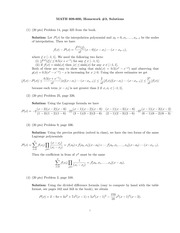 Homework 3 Solution on Numerical Analysis