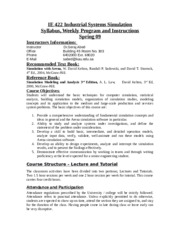 20086_IE422 S09 Course Syllabus