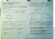 MAC2311 Lecture 2 Elementary Functions notes